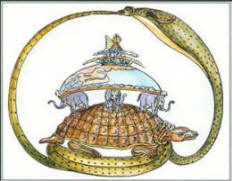 an introduction to the myth of creation in india the earth on turtles back Turtles are a popular symbol in mythology because of their longevity and appearance reptiles carries the earth upon its back the great spirit of the polynesian tribes believed a similar creation story overall.